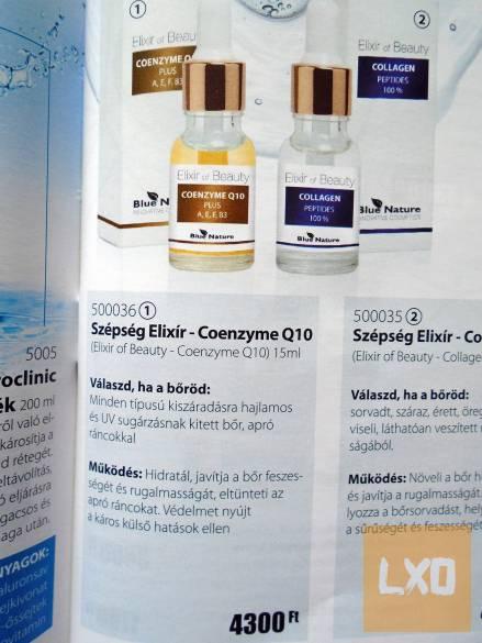 Blue Nature szépség Elixír-Coenzyme Q10 apróhirdetés