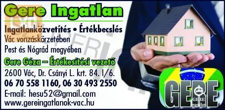 Eladó Vác-Deákváron 1620 m2-es belterületi építési telek. apróhirdetés